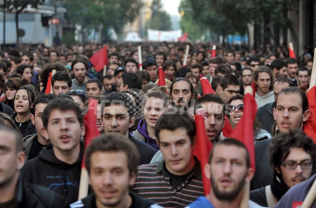 抗議デモが暴動に発展、200人以上を拘束 ギリシャ・アテネ