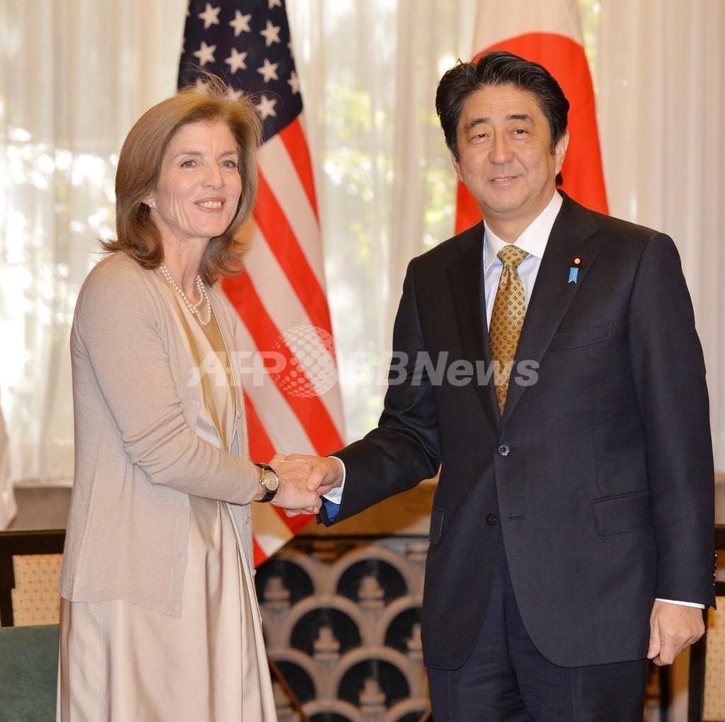 ケネディ米大使、安倍首相を表敬訪問