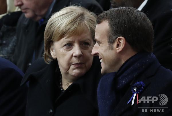 仏大統領、ナショナリズムの台頭に警鐘 トランプ型「自国第一」主義を批判