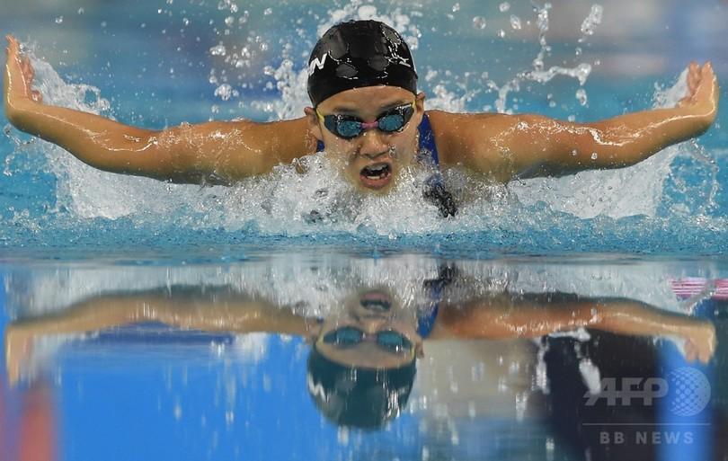 女子200m個人メドレーで渡部が銀、寺村は銅 アジア大会