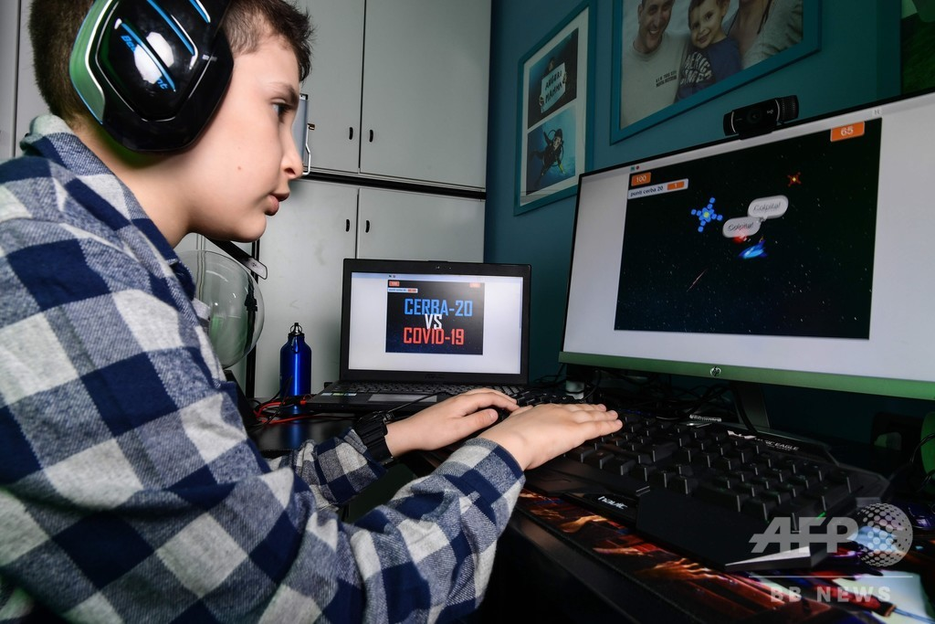 封鎖下の9歳男児、COVID-19退治ゲームを開発 伊