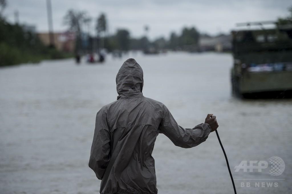 「ハービー」降水量、米本土史上最高を再び更新 1日で2度目