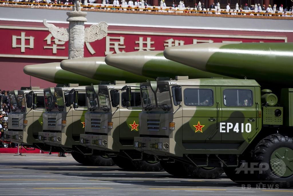中国の軍事技術、西側と「ほぼ同等」に近づく 英報告書