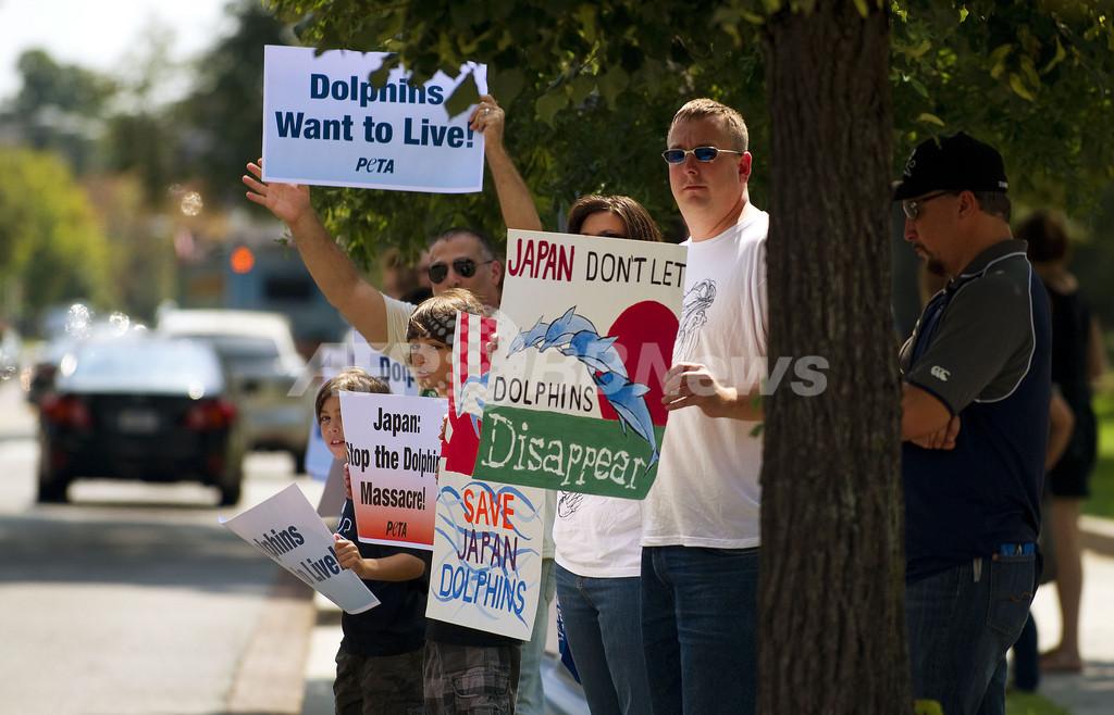 世界各地でイルカ漁抗議デモ