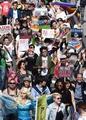 性的少数者への理解呼び掛け、渋谷でパレード
