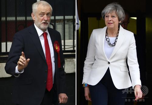 英総選挙、保守党が過半数割る メイ首相に退陣圧力