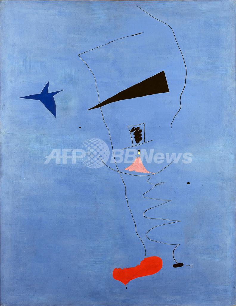 ジョアン・ミロの絵画、19億円超で落札