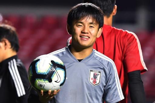 コパ・アメリカ出場の日本代表がトレーニング、チリ戦を翌日に控え