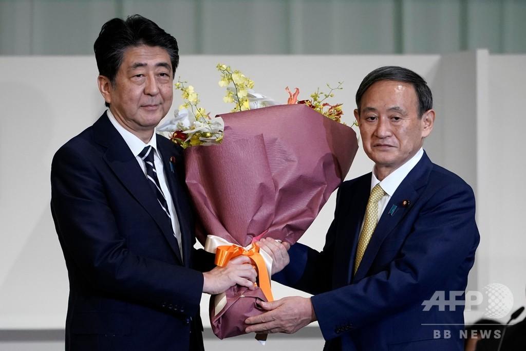 菅氏を新総裁に選出、自民党総裁選