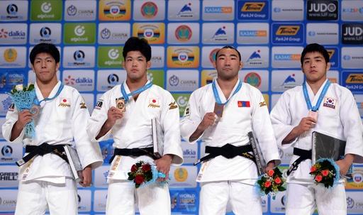 大野が男子73キロ級で金、決勝で中矢下す 世界柔道
