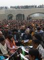 女性の尊厳訴えるデモ行進に数百人、インド・ニューデリー