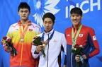 萩野、強豪2選手抑え男子200m自由形で優勝 アジア大会