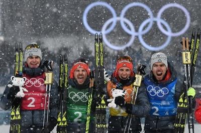 ノルディック複合団体はドイツが金メダル、日本4位 平昌五輪