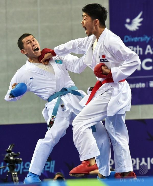 篠原が男子組手67キロ級を制し金メダル、アジア大会
