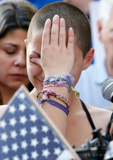 米フロリダ州で反銃集会、高校銃乱射生き延びた女子生徒が熱弁