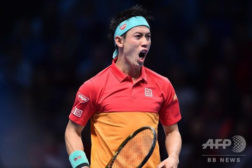 錦織がフェデラー撃破、精彩欠く相手にストレート勝ち ATPファイナルズ