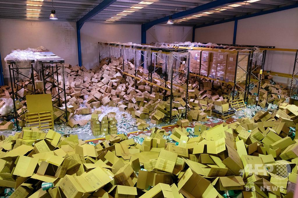 倉庫から衛生用品盗難、6億円相当 スペイン・ガリシア州