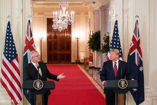 訪米の豪首相、トランプ氏の対中姿勢を支持