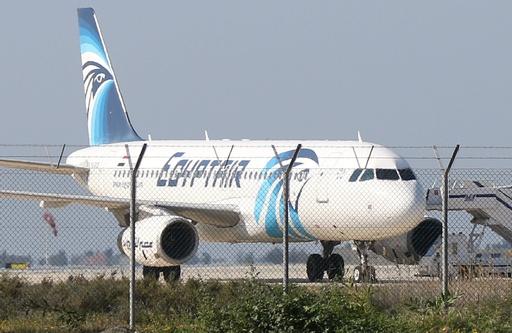 エジプト航空機がハイジャック、キプロスの空港に着陸