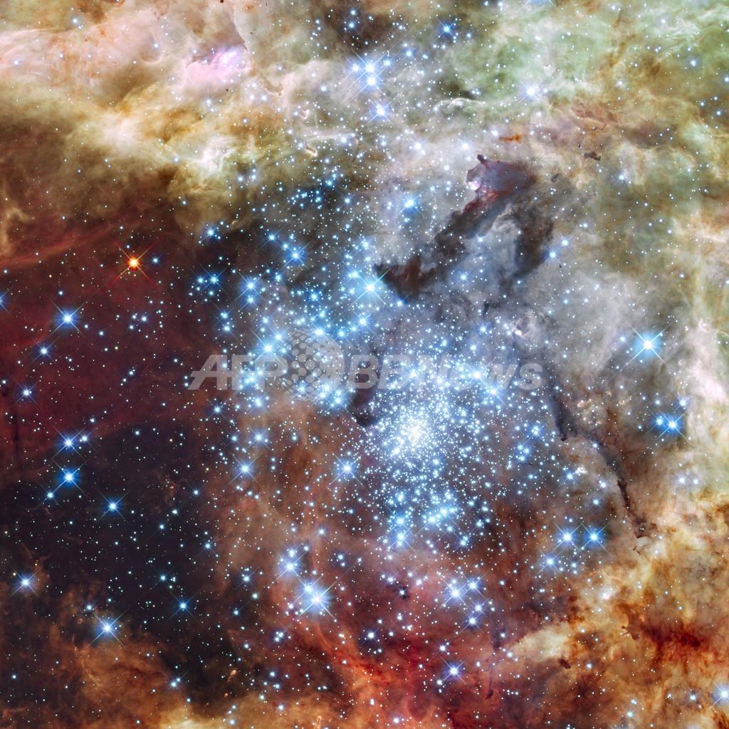 かじき座30星雲、衝突する2つの星団 NASA