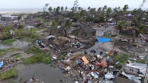 動画:サイクロン襲来のモザンビーク、死者1000人超か 現地の被災状況や救出活動の映像