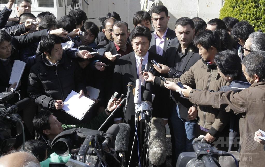 人質交換の期限迫る、後藤さん母とパイロット父が訴え