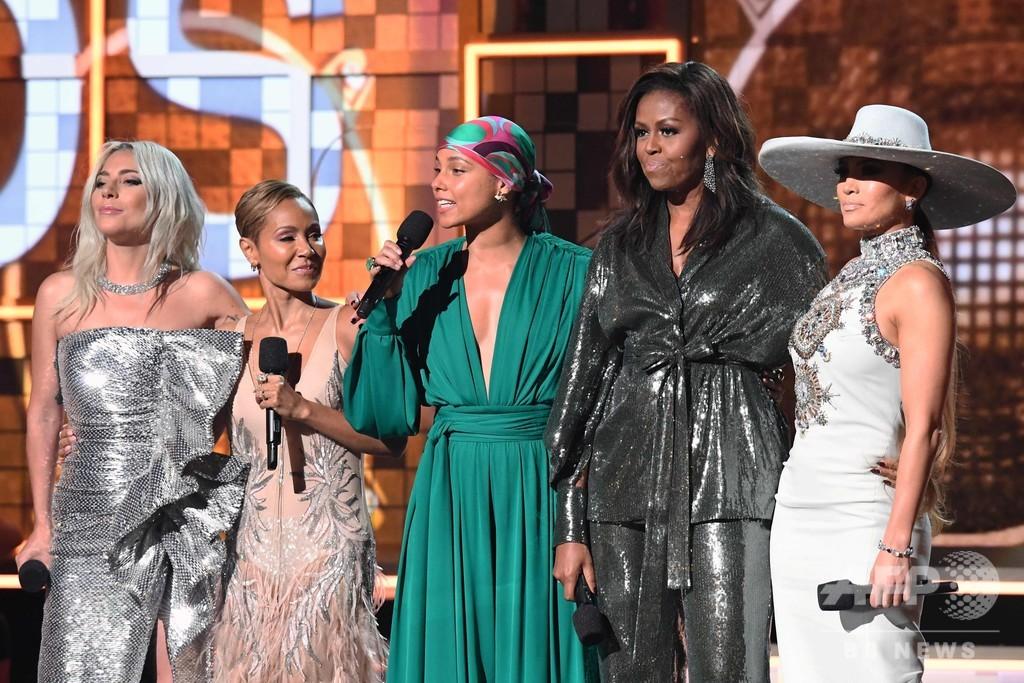 グラミー賞授賞式にミシェル夫人登場、音楽と女性のパワーについて語る