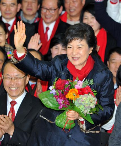朴槿恵氏が大統領選に勝利、韓国初の女性大統領誕生へ