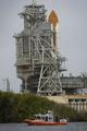 打ち上げを待つスペースシャトル「エンデバー」、米フロリダ