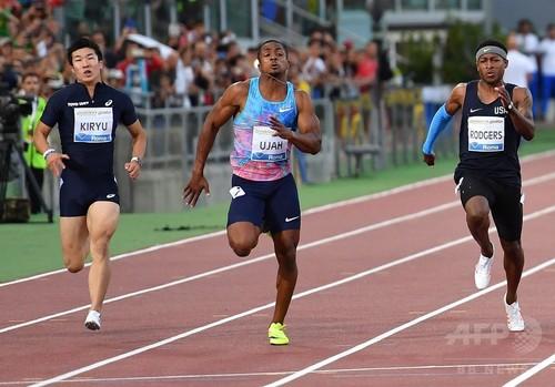 桐生は10秒18で6位、ウジャが男子100メートル制す