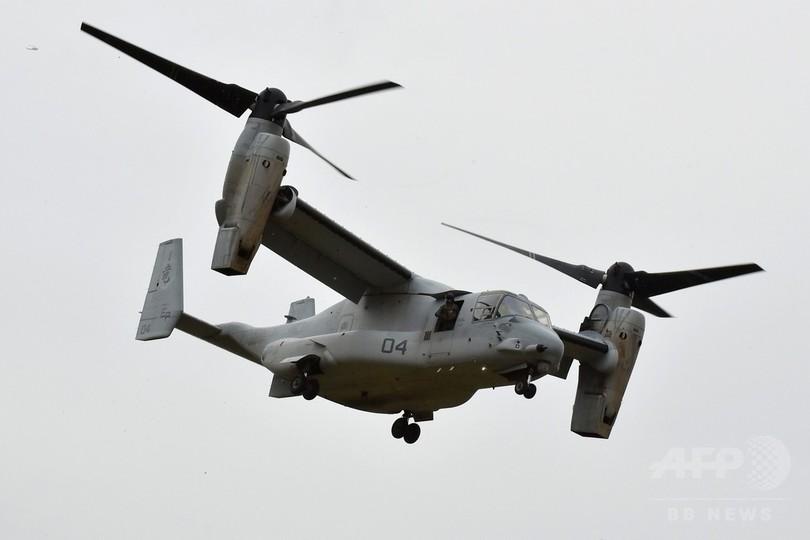 米海兵隊、全航空機の飛行一時停止へ オスプレイ事故受け