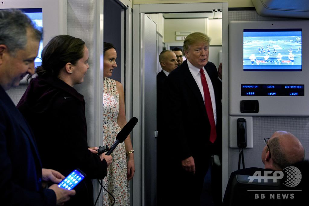【今日の1枚】大統領ごひいきのチームは? 専用機でもスーパーボウル