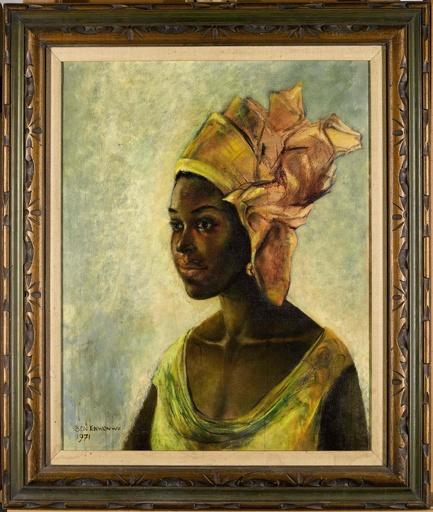 グーグル検索で価値発見「アフリカのモナリザ」作者の絵、1億5200万円で落札