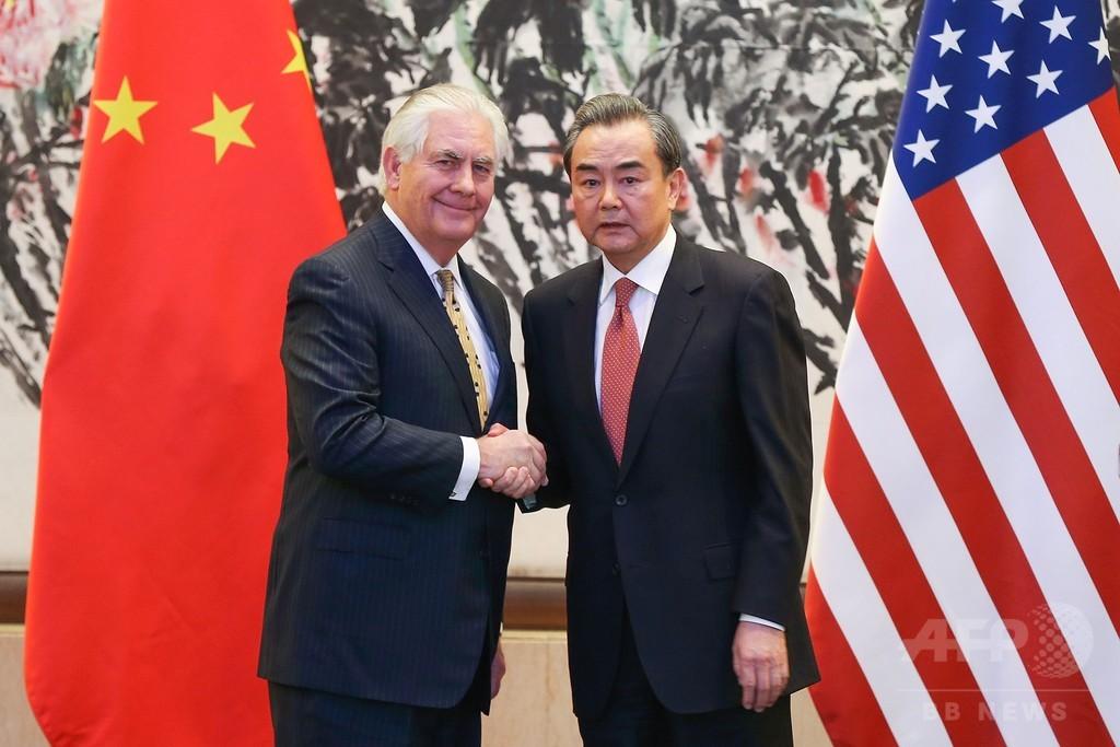 米国務長官、中国外相と会談 北朝鮮対処で協力姿勢
