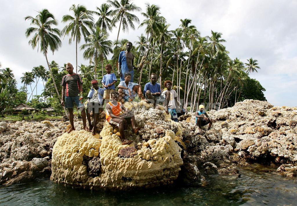 地震でさんご礁壊滅 - ソロモン諸島