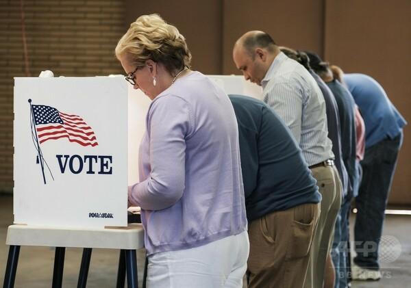 【写真特集】いよいよ決戦 米大統領選の投票進む