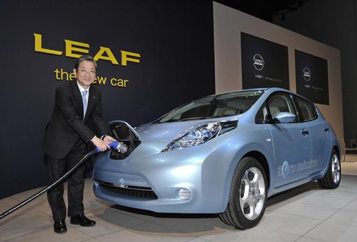 日産、電気自動車「リーフ」を12月に発売へ