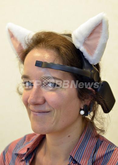 脳波で動く「ネコ耳」、日本の開発者チームが製作