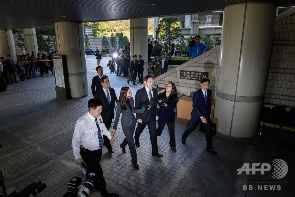 サムスン副会長、ソウル高裁に出廷 差し戻し審初公判