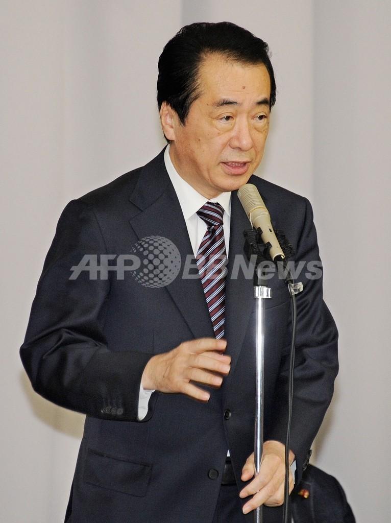 衆院本会議で内閣不信任案を否決、菅首相は退陣を表明