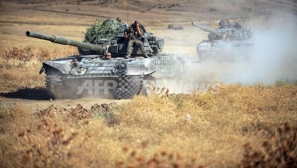 ロシア軍、グルジアの要衝ゴリを占領か グルジア当局者