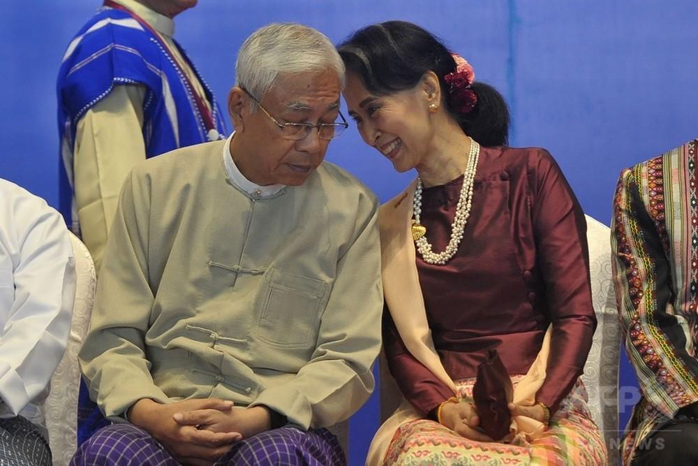 ミャンマー大統領が辞任、スー・チー氏の側近