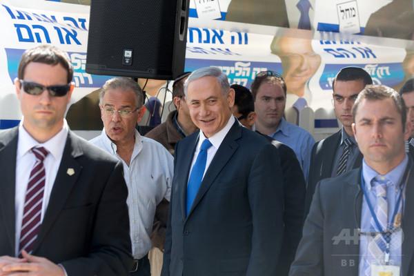 イスラエル首相、「再選ならパレスチナ国家あり得ず」 17日総選挙