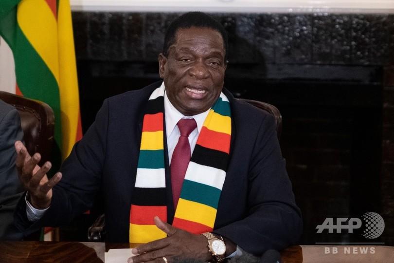 ジンバブエ大統領、選挙不正を否定 野党は「いかさま」と非難