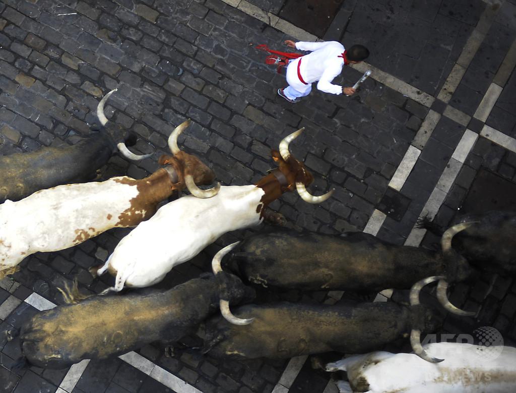スペイン牛追いでまた死者、先月から合計7人