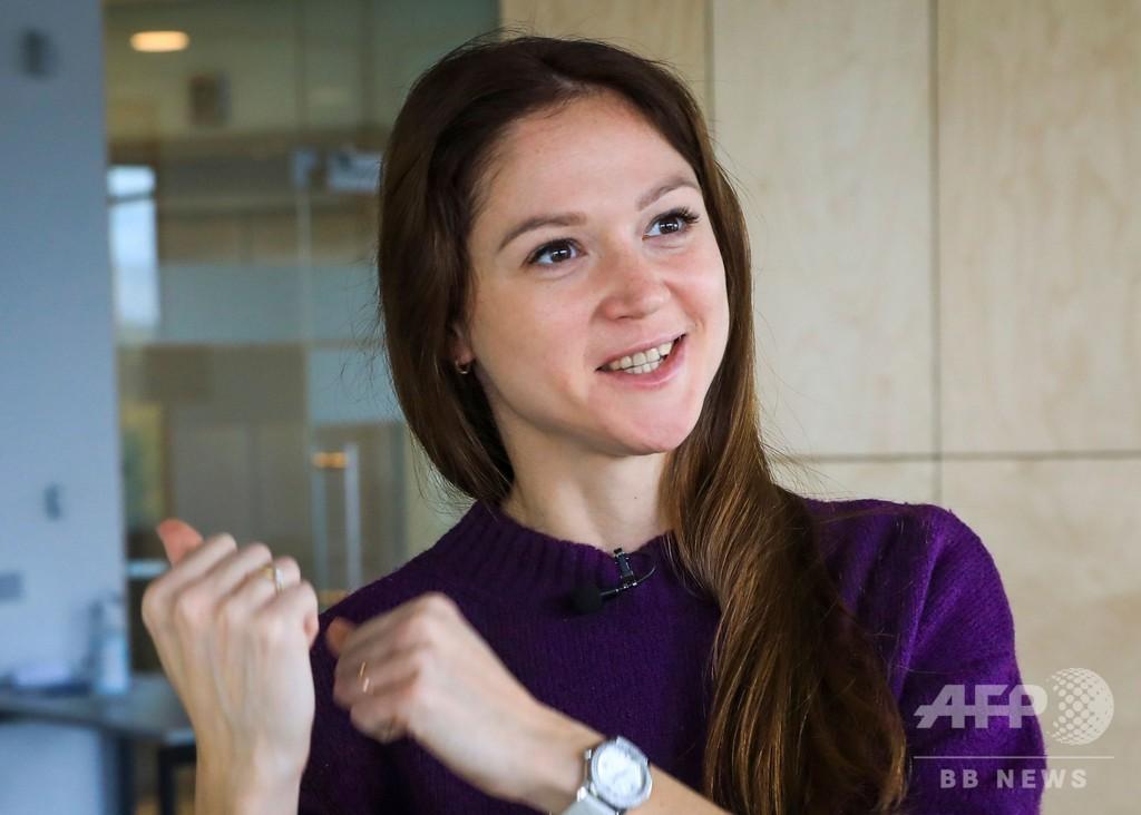 ベラルーシの元五輪スイマー、体制にあらがう母国選手を支援