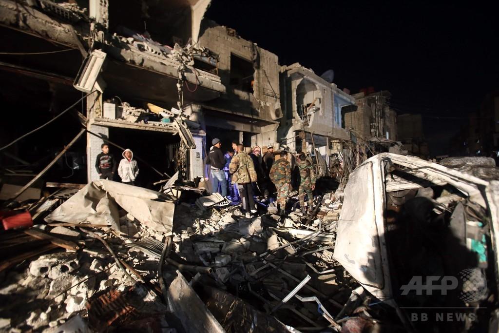 連続自爆攻撃で155人死亡、ISが犯行声明 シリア