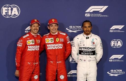 ルクレールが自身初のPP獲得、フェラーリが最前列独占 バーレーンGP