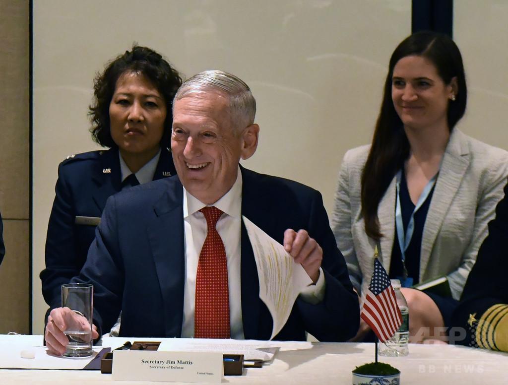 対北朝鮮制裁は当面継続、日米韓防衛相会談で米国防長官