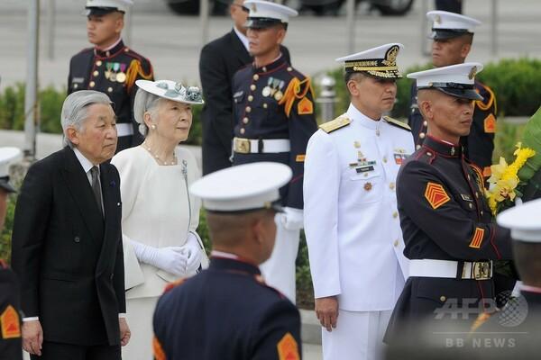 天皇、皇后両陛下フィリピンで戦没者を慰霊